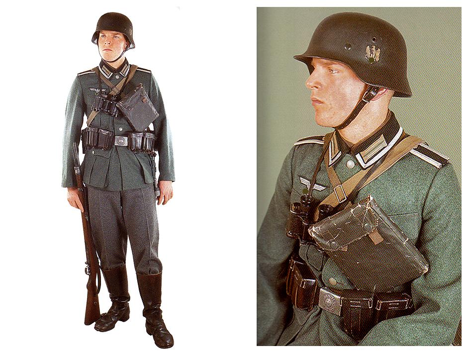 Takto může vypadat vystrojený poddůstojník německé Wehrmacht-Heer dle našeho návodu.