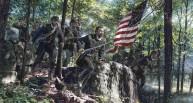 Col. Lawrence Joshua Chamberlain při útoku z Little Round Top. (Zdroj: giantbomb.com)