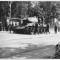 Čestná stráž čs. tankistů při pohřbu Hrdiny Sovětského svazu podporučíka Stěpana Vajdy velitele 4. tankové roty 2. tankového praporu.